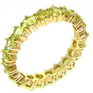 9ct Yellow Gold Peridot Full Eternity Ring
