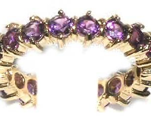9ct Gold Amethyst Full Eternity Ring