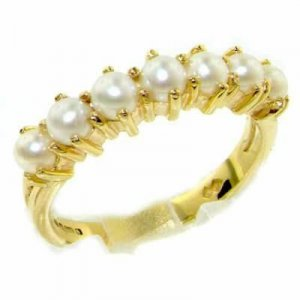 9ct Gold Pearl Eternity Ring