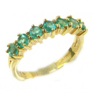 9ct Gold Emerald Eternity RingFree P&P