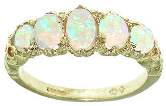 9ct Gold Colourful Fiery Opal Ring (2015/4)