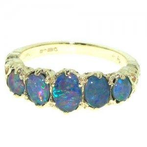 9ct Gold Opal RingFree P&P