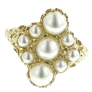 9ct Gold Large Pearl RingFree P&P