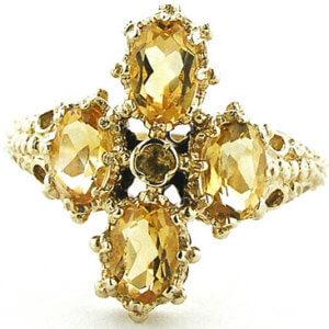 18ct Yellow Gold Citrine Ring