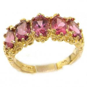 9ct Gold Pink Tourmaline Ring