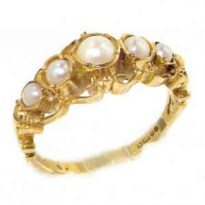 9ct Gold Georgian Style Pearl Ring