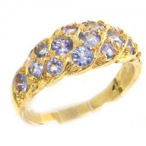 Vibrant Tanzanite Band Ring