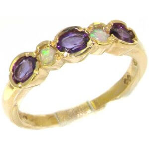 18ct Gold Amethyst & Opal Ring