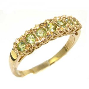 9ct Gold Peridot Eternity Ring