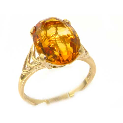 9 CT GOLD 5 STONE CITRINE RING  NEW  SIZE N