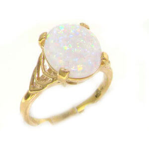 9ct Yellow Gold Opal Solitaire Ring