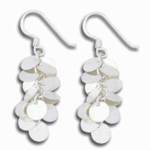 Luxury Modern Designer Sterling Silver Dangle Earrings