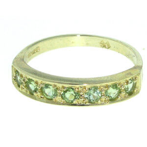 9ct Gold Peridot Eternity RingFree P&P