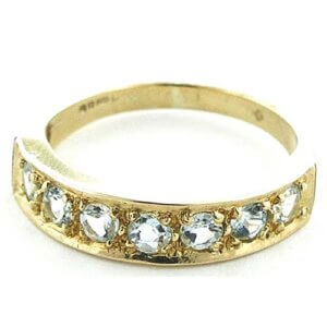9ct Gold Aquamarine Eternity RingFree P&P