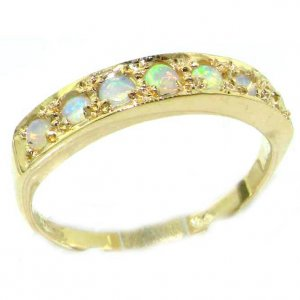 9ct Gold Fiery Opal Eternity Ring