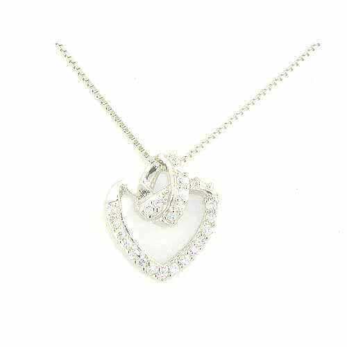 Luxury Sterling Silver Heart Pendant Necklace