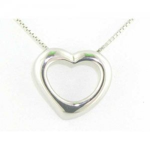 Luxury Sterling Silver Floating Heart Pendant Necklace