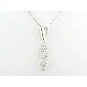 Sterling Silver Modern Designer Pendant Necklace