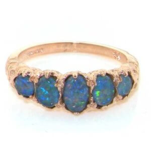 9ct Rose Gold Opal Ring