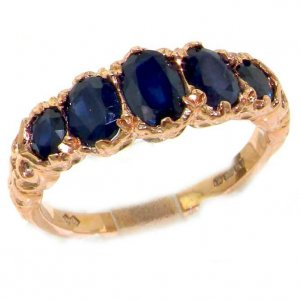 9ct Rose Gold Sapphire Ring