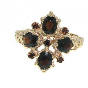 9ct Rose Gold 9 Stone Garnet RingFree P&P