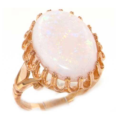 9ct Rose Gold Large Opal Ring