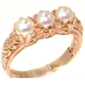 9ct Rose Gold Pearl Ring