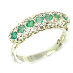 Sterling Silver Emerald Eternity Ring