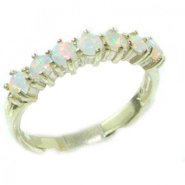 White Gold Opal Eternity Ring
