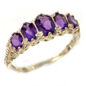 9ct White Gold 3.5ct Amethyst Ring