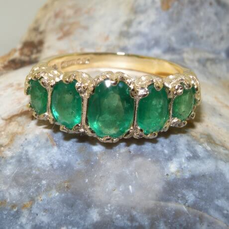 14K Gold Emerald Ring