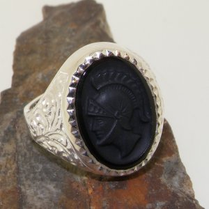 ajax centurion head ring on rock