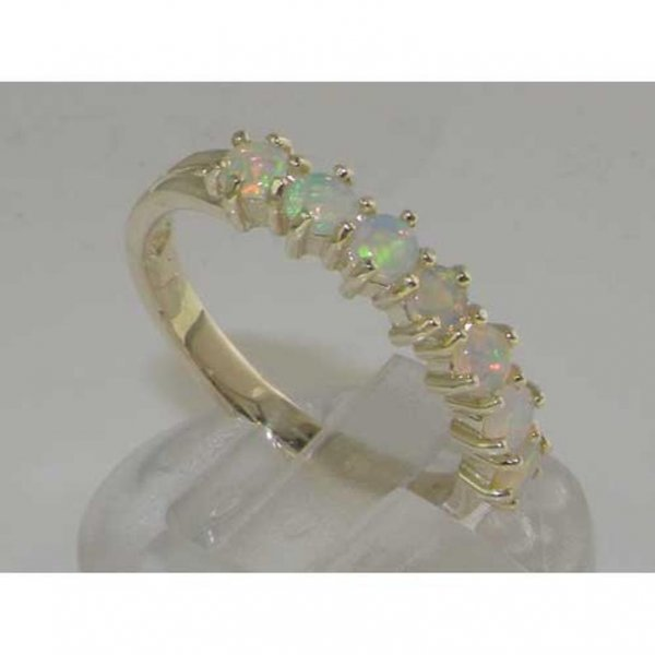 opal seven stone ring
