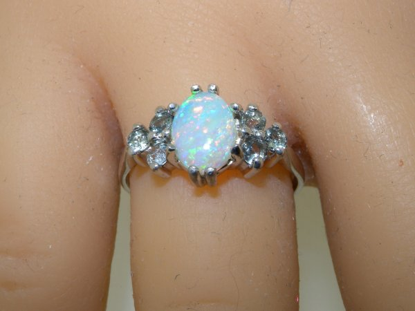 classic engagement ring design on hand